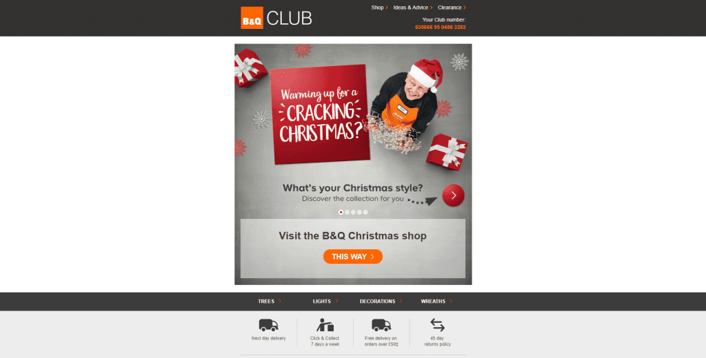 BnQ kinetic email marketing example