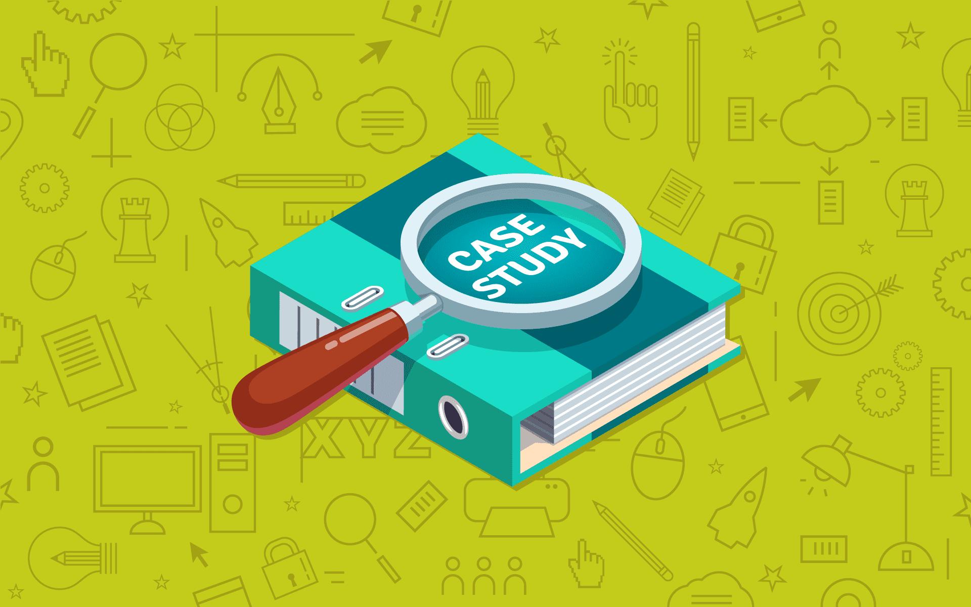 Website case study graphic