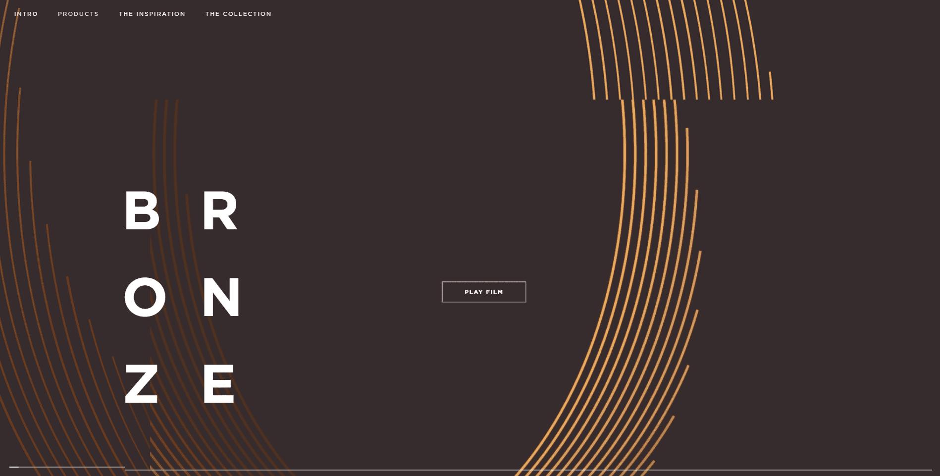 Bang Olufson asymmetrical web design layout