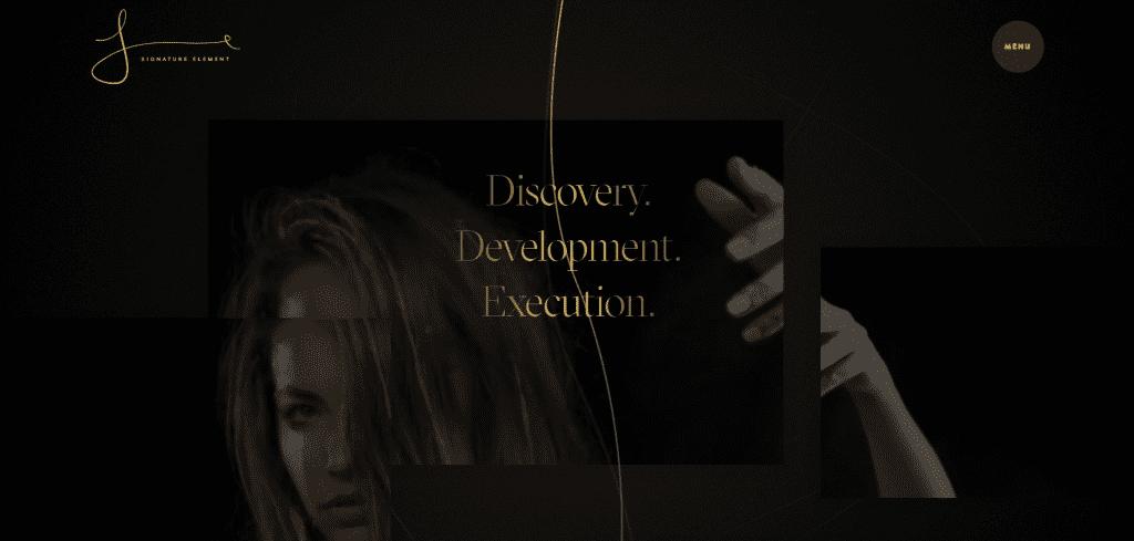 Signature Element Website - Discovery Development Execution