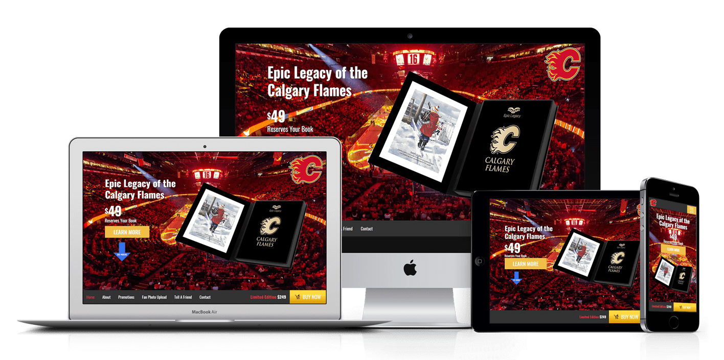 Calgary Flames Book Ecommerce