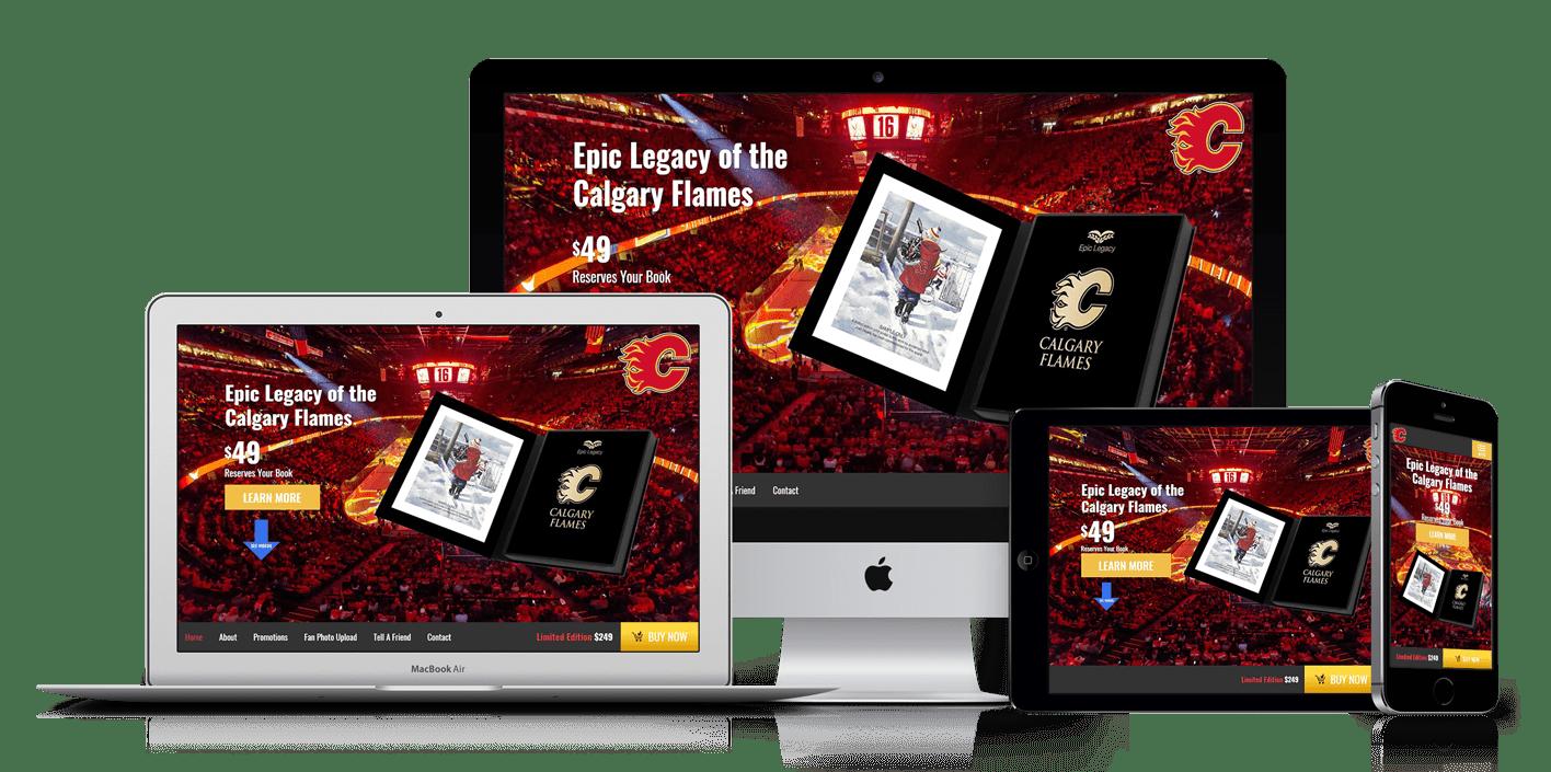 Calgary Flames Book Ecommerce